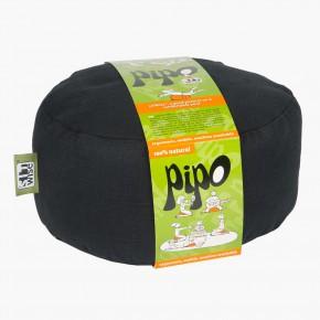 Pohankový taburet PIPO - ebenová černá