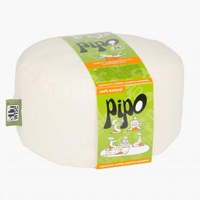Pohankový taburet PIPO - ecru bílá