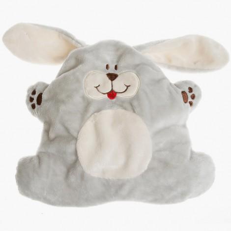 Plyšový nahřívací králíček pro miminka obsahuje hřejivý polštářek s lněnými semínky