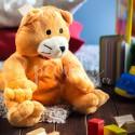 Plyšová hračka s nahřívacím bříškem dětem pomáhá na bolest.