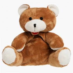 Plyšový  nahřívací medvídek do mikrovlnky obsahuje vnitřní polštářek s třešňovými peckami.