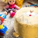 Dětský pohankový taburet - Kočka